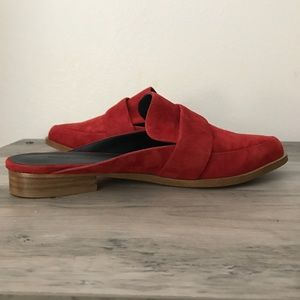 Rebecca Minkoff Shoes - Rebecca Minkoff Red Suede Mika Mules New